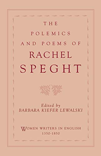 9780195086157: The Polemics and Poems of Rachel Speght (Women Writers in English 1350-1850)