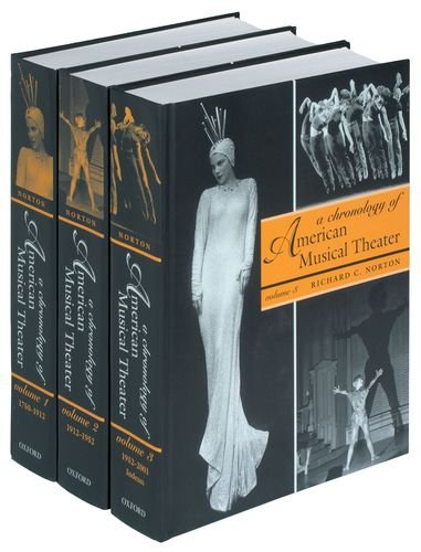 9780195088885: A Chronology of American Musical Theater (3 Volumes)