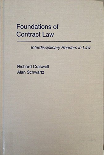 9780195090352: Foundations of Contract Law (Interdisciplinary Readers in Law)