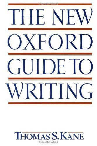 9780195090598: The New Oxford Guide to Writing