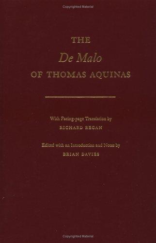 9780195091823: The De Malo of Thomas Aquinas