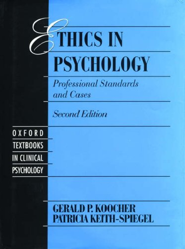 9780195092011: Ethics in Psychology: Professional Standards and Cases (Oxford Series in Clinical Psychology)