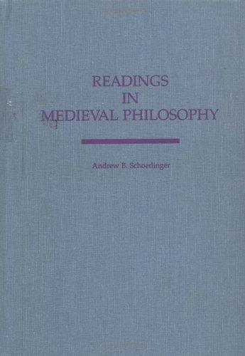 Readings in Medieval Philosophy: Schoedinger, Andrew B.