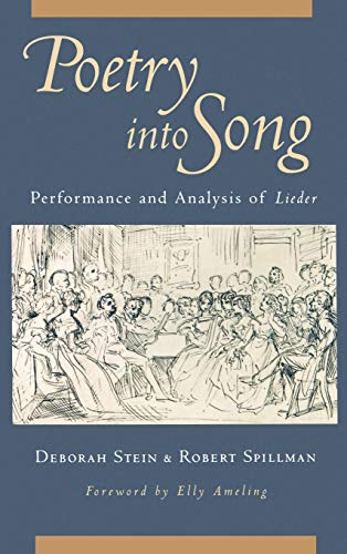 9780195093285: Poetry Into Song: Performance & Analysis of Lieder: Performance and Analysis of Lieder