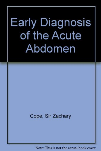 9780195097580: Early Diagnosis of the Acute Abdomen