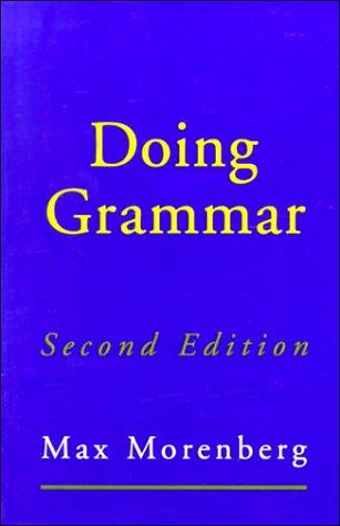 9780195097832: Doing Grammar