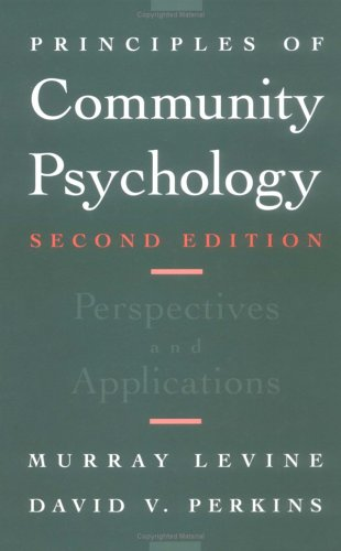9780195098440: Principles of Community Psychology: Perspectives and Applications