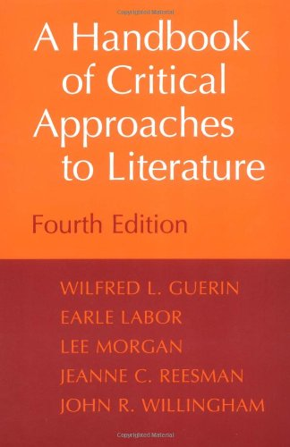 9780195099553: A Handbook of Critical Approaches to Literature