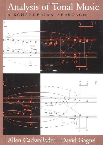 9780195102321: Analysis of Tonal Music: A Schenkerian Approach