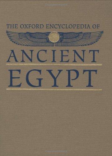 9780195102345: The Oxford Encyclopedia of Ancient Egypt (3 Volume Set)
