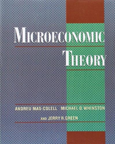9780195102680: Microeconomic Theory