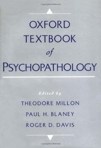 9780195103076: Oxford Textbook of Psychopathology