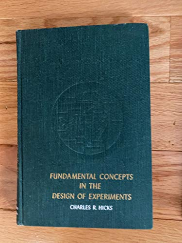 9780195105810: Fundamental Concepts in the Design of Experiments