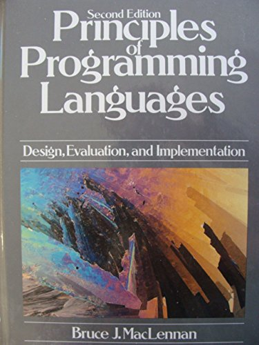 9780195105834: Principles of Programming Languages: Design, Evaluation, and Implementation
