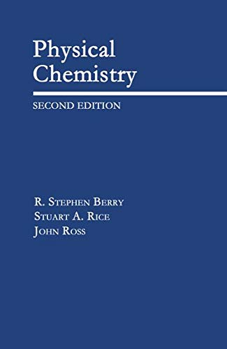 9780195105896: Physical Chemistry (Topics in Physical Chemistry)