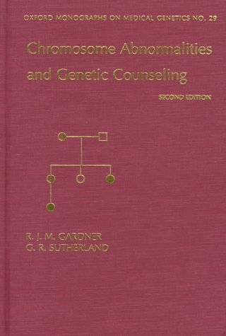 9780195106152: Chromosome Abnormalities and Genetic Counseling
