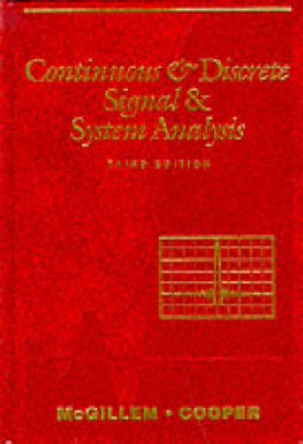 9780195107500: Continuous and Discrete Signal and System Analysis (The Oxford Series in Electrical and Computer Engineering)