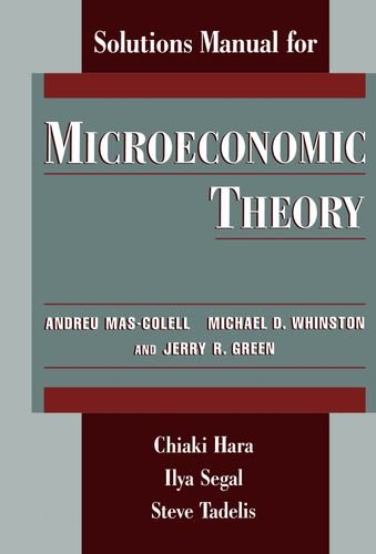 9780195107982: Microeconomic Theory Solutions Manual for Mas-Colell
