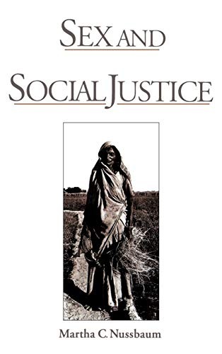 Sex and Social Justice (9780195110326) by Martha Craven Nussbaum