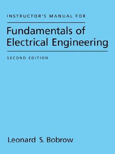 9780195111248: Instructor's Manual For Fundamentals Of Electrical Engineering