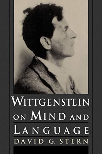 9780195111477: Wittgenstein on Mind and Language