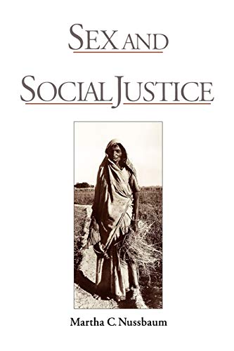 Sex and Social Justice (0195112105) by Martha C. Nussbaum
