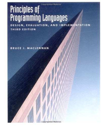9780195113068: Principles of Programming Languages: Design, Evaluation, and Implementation