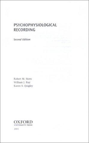 9780195113587: Psychophysiological Recording