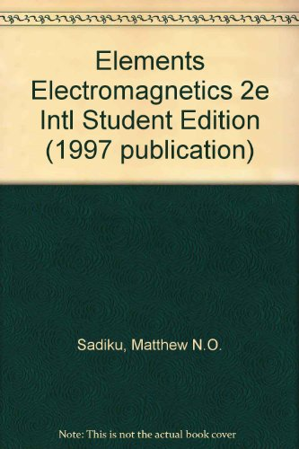 9780195115963: Elements of Electromagnetics: International Student Edition