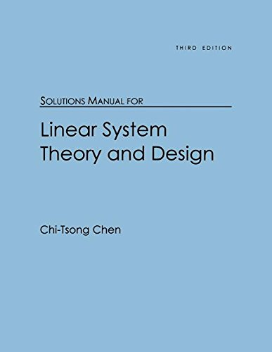 9780195117790: Solutions Manual for Linear System Theory and Design
