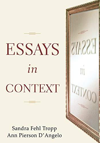 Essays in Context: Sandra Fehl Tropp,