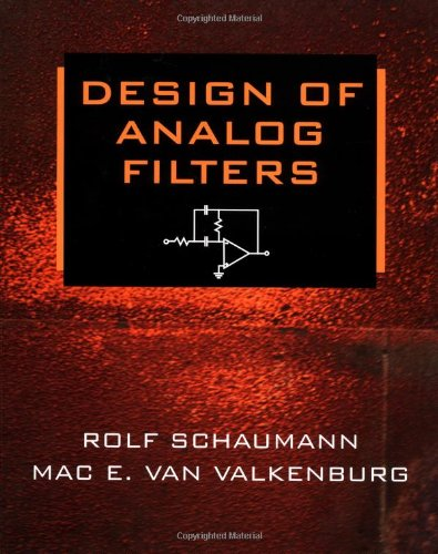 9780195118773: Design of Analog Filters