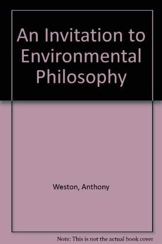 9780195122039: An Invitation to Environmental Philosophy