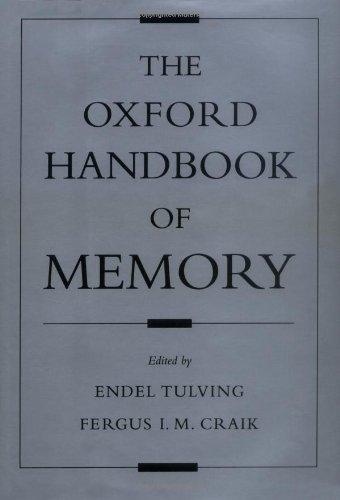 9780195122657: The Oxford Handbook of Memory
