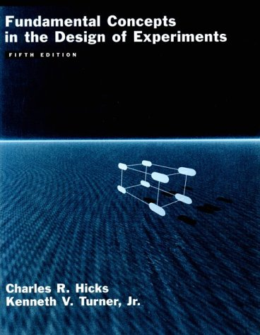 9780195122732: Fundamental Concepts in the Design of Experiments