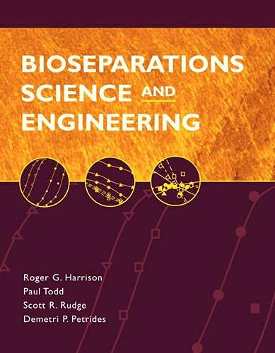 9780195123401: Bioseparations Science and Engineering (Topics in Chemical Engineering)