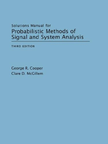 9780195123555: Solutions Manual for Probabilistic Methods of Signal and System Analysis