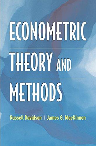 9780195123722: Econometric Theory and Methods
