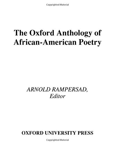 9780195125634: The Oxford Anthology of African-American Poetry