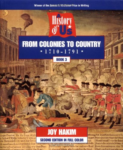 9780195127553: A History of US: Book 3: From Colonies to Country (1710-1791)