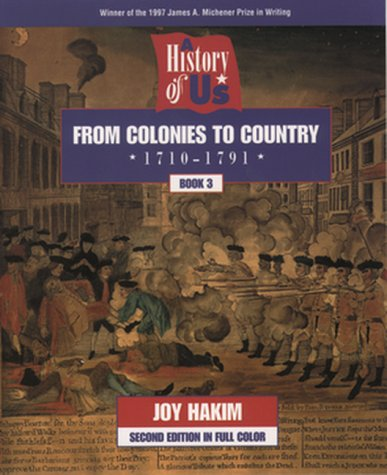 9780195127560: A History of US: Book 3: From Colonies to Country (1710-1791)