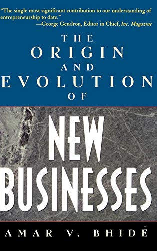 9780195131444: The Origin and Evolution of New Businesses