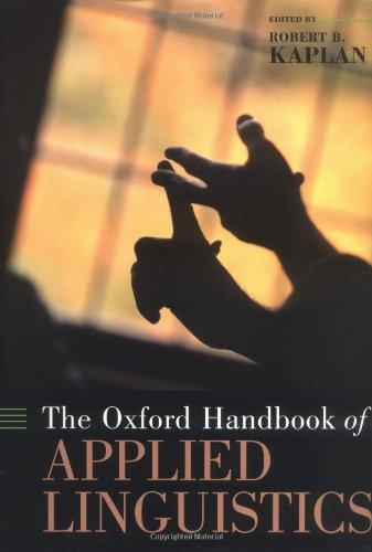 9780195132670: The Oxford Handbook of Applied Linguistics (Oxford Handbooks)