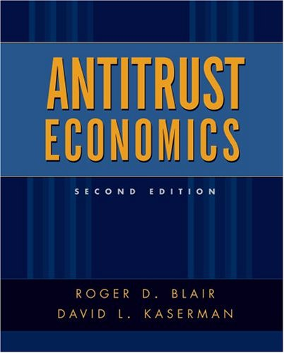 9780195135350: Antitrust Economics