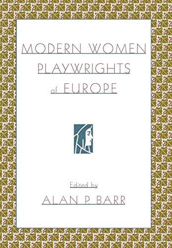 9780195135367: Modern Women Playwrights of Europe