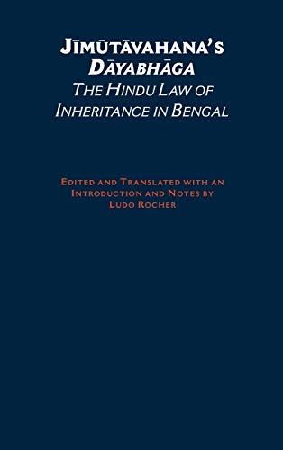 Jimutavahana's Dayabhaga: The Hindu Law of Inheritance