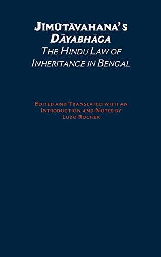 9780195138177: Jimutavahana's Dayabhaga: The Hindu Law of Inheritance in Bengal (South Asia Research)