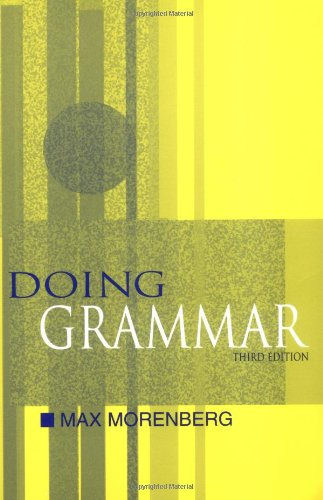 9780195138405: Doing Grammar