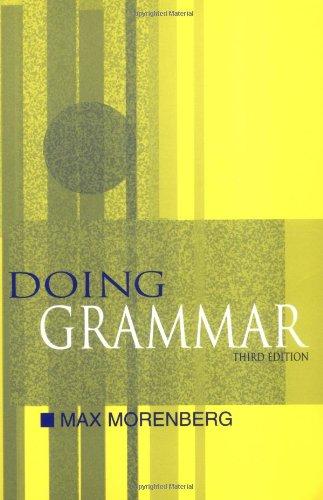 9780195138405: Doing Grammar