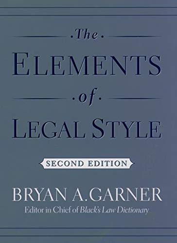 The Elements of Legal Style (0195141628) by Bryan A. Garner
